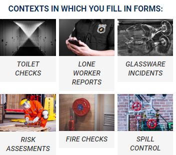 Contexts in which you fill in forms