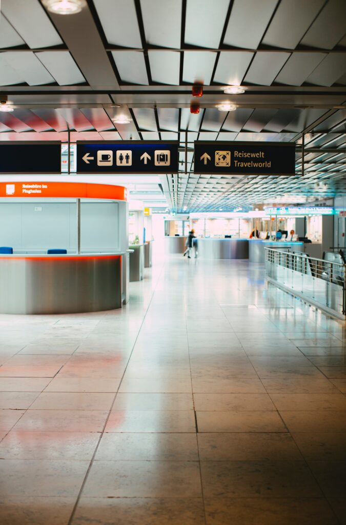 Facility management services at an airport